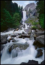 Vernal Fall and downstream cascades. Yosemite National Park ( color)