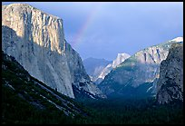 Valley and Rainbow from Tunnel View, afternoon storm light. Yosemite National Park ( color)