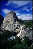 Nevada Fall and Liberty cap, afternoon. Yosemite National Park ( color)