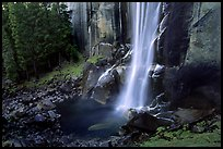 Base of Vernal Falls. Yosemite National Park ( color)
