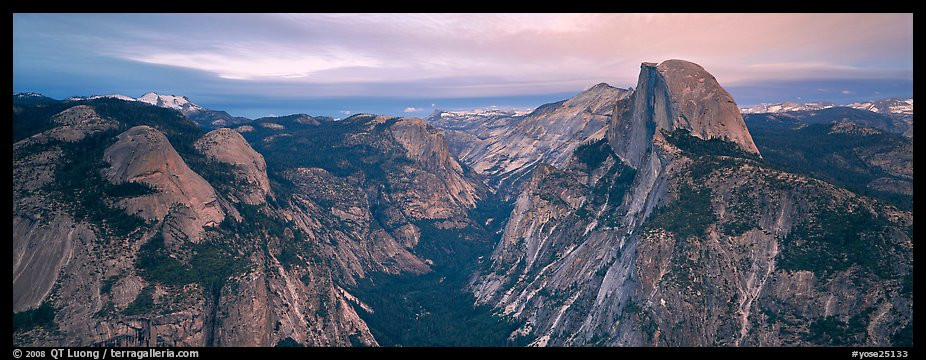 Half Dome and Tenaya Canyon. Yosemite National Park (color)