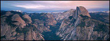 Half Dome and Tenaya Canyon. Yosemite National Park (Panoramic color)