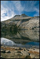 Mount Hoffman reflected in May Lake. Yosemite National Park ( color)