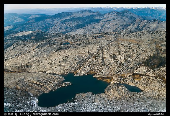 Lakes below Mount Hoffman. Yosemite National Park, California, USA.