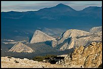 Distant view of Fairview and other domes, late afternoon. Yosemite National Park ( color)