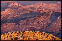 Granite ridges at sunset. Yosemite National Park ( color)
