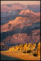 High country ridges at sunset. Yosemite National Park ( color)