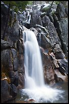 Chilnualna Falls, Wawona. Yosemite National Park ( color)