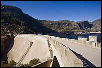 O'Shaughnessy Dam and Hetch Hetchy Reservoir. Yosemite National Park ( color)