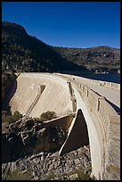 O'Shaughnessy Dam, Hetch Hetchy Valley. Yosemite National Park ( color)