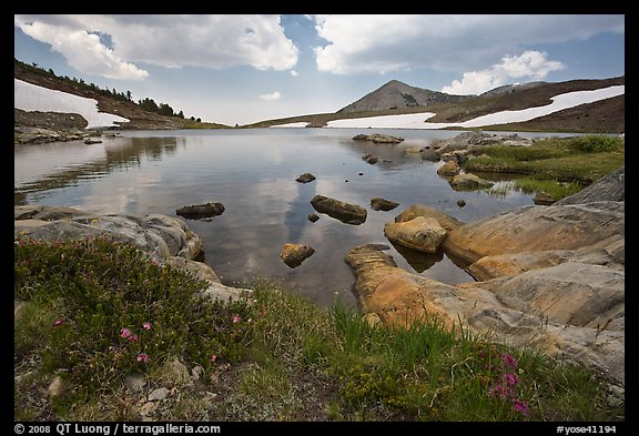 High alpine basin with Gaylor Lake. Yosemite National Park (color)