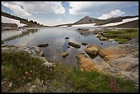 High alpine basin with Gaylor Lake. Yosemite National Park ( color)