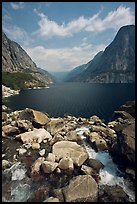 Stream from Wapama fall and Hetch Hetchy reservoir. Yosemite National Park ( color)
