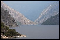 Hetch Hetchy reservoir, storm light. Yosemite National Park ( color)