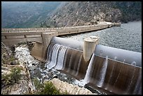 Overflow channel,  O'Shaughnessy Dam. Yosemite National Park ( color)