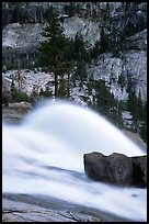 Waterwheel at dusk, Waterwheel falls. Yosemite National Park ( color)
