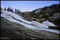 Waterwheel Falls, sunset. Yosemite National Park ( color)