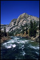 Tuolumne river on its way to the Canyon of the Tuolumne. Yosemite National Park ( color)