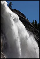 Backlit Nevada Fall. Yosemite National Park ( color)