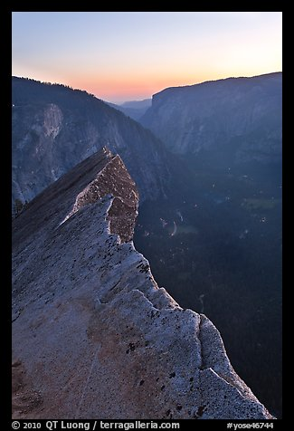Diving Board and Yosemite Valley at sunset. Yosemite National Park (color)