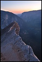 Diving Board and Yosemite Valley at sunset. Yosemite National Park ( color)
