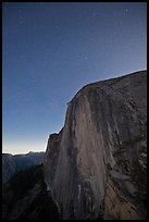 Face of Half-Dome by night. Yosemite National Park ( color)