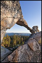 Indian Rock natural arch. Yosemite National Park ( color)