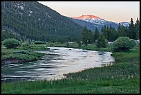 Tuolumne River in Lyell Canyon, sunset. Yosemite National Park ( color)