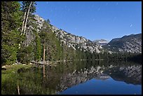 Merced Lake by moonlight. Yosemite National Park ( color)