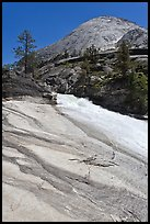 Granite slab, Merced River, and dome. Yosemite National Park ( color)