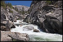 Gorge, Upper Merced River Canyon. Yosemite National Park ( color)