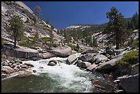 Merced river flowing in granite canyon. Yosemite National Park ( color)
