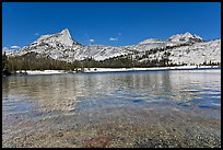 Lower Cathedral Lake and Cathedral range. Yosemite National Park ( color)