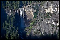 Vernal Fall from above, late afternoon. Yosemite National Park ( color)