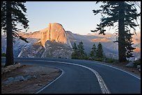 Road and Half-Dome. Yosemite National Park ( color)