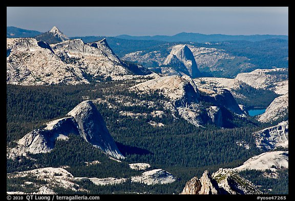 Fairview Dome and Half-Dome from Mount Conness. Yosemite National Park (color)