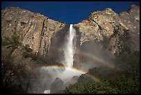 Bridalveil Fall with double rainbow. Yosemite National Park ( color)
