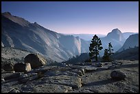 Erratic boulders, pines, Clouds rest and Half-Dome from Olmstedt Point, late afternoon. Yosemite National Park ( color)
