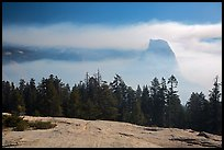 Half-Dome with fog clearing from Sentinel Dome. Yosemite National Park ( color)