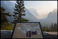 Discovery View interpretive sign. Yosemite National Park ( color)