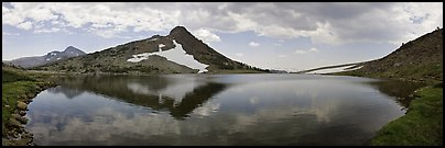 Upper Gaylor Lake. Yosemite National Park (Panoramic color)