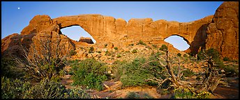 Sandstone windows. Arches National Park (Panoramic color)