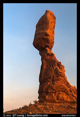 Balanced Rock (size of three school busses). Arches National Park (color)