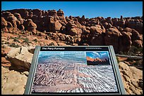 Interpretive sign, Fiery Furnace. Arches National Park ( color)