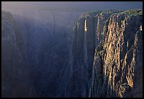 Narrows at sunset, North rim. Black Canyon of the Gunnison National Park, Colorado, USA. (color)