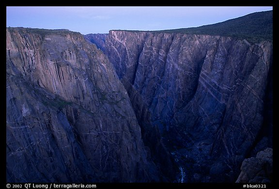 Painted wall from Chasm view at dawn, North Rim. Black Canyon of the Gunnison National Park (color)