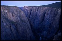 Painted wall from Chasm view at dawn, North Rim. Black Canyon of the Gunnison National Park ( color)