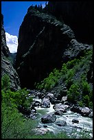 Gunisson river near the Narrows. Black Canyon of the Gunnison National Park ( color)