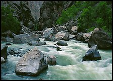 Boulders and rapids of  Gunisson River. Black Canyon of the Gunnison National Park ( color)