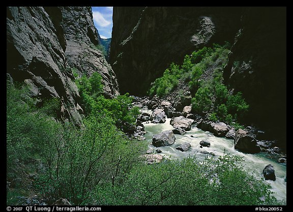 Gunisson River in narrow gorge in spring. Black Canyon of the Gunnison National Park (color)